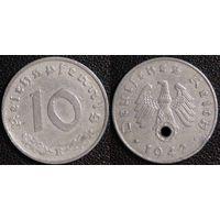 YS: Германия, Третий Рейх, 10 рейхспфеннигов 1942E, КМ# 101