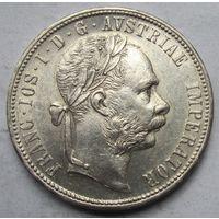 Австрия, флорин, 1880, серебро