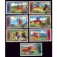 7 марок 1987 год Монголия Национальные виды спорта 1844-1850