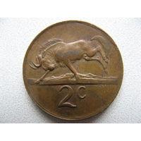 ЮАР 2 цента 1975 г.