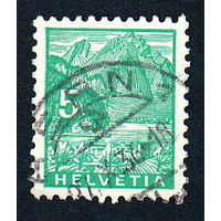 59: Швейцария, почтовая марка, 1934 год, номинал 5с, SG#351