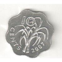 Свазиленд 10 цент 2007