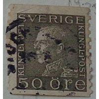 Король Густав V. Швеция. Дата выпуска:1921-09-06