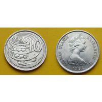 Каймановы острова 10 цент 1982г.