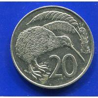 Новая Зеландия 20 центов 1988