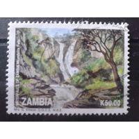 Замбия 1993 Водопад