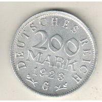 Германия 200 марка 1923 G