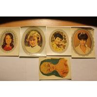 Переводные картинки, времён ГДР, 5 штук, размер 11.5*10 см.