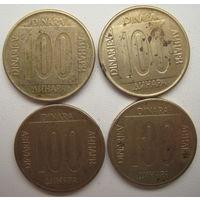 Югославия 100 динар 1989 гг. Цена за 1 шт. (g)