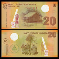 Никарагуа 20 кордоба образца 2007(2009) UNC p202