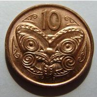 Новая Зеландия 10 центов 2009 г