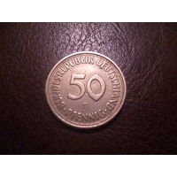 50 пфеннигов ФРГ 1980 D