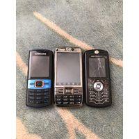 Три телефона (нокиа, моторола, самсунг)
