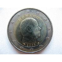 Монако 2 евро 2009 г. UNC!