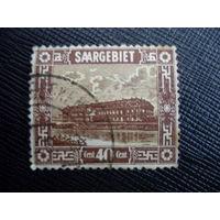 Саар 1922 Французская оккупация. Saar - Mi:DE-SL 91