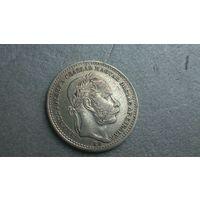 20 крейцеров 1868 Франц Иосиф1 венгерский вариант серебро