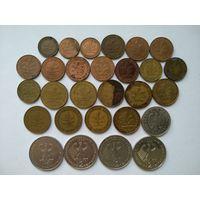 28 монет ФРГ от 1 пфеннига до 2 марок