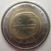 Португалия 2 евро 2009 г. 10-летие монетарной политики ЕС (EMU) и введения евро