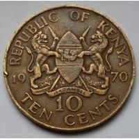 Кения, 10 центов 1970 г.