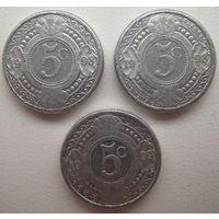 Нидерландские Антильские острова 5 центов 1998, 1999 г. Цена за 1 шт. (gl)