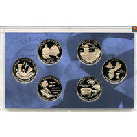 США 2009 набор КВОТЕРОВ ( 25 центов ) 6шт ПРУФ! АЦ