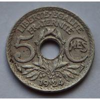 Франция, 5 сантимов 1924 г.