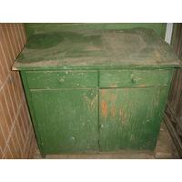 Тумба шкафчик 50-е гг зеленого цвета