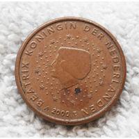 1 евроцент 2000 Нидерланды #01