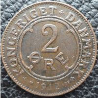 Дания 2 оре 1912 года. Нечастая!