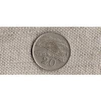 Зимбабве 20 центов 1991  /мост/(КР)