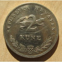 Хорватия 2 куны 20013 год
