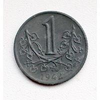 1 Крона 1942 Богемия и Моравия Супер состояние
