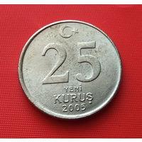 25-16 Турция, 25 куруш 2005 г.