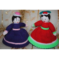 """Две Куклы вязанные/перевёртыши, - полностью ручной работы в единственном экз: """"АНФИСА и РАИСА""""., - *в этом лоте цена за обе уже со скидкой!"""