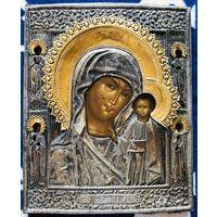 Икона Казанская Богородица. 19 Век. Супер.