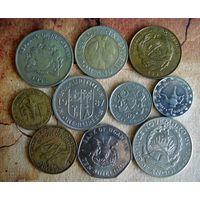Монеты Африки. 10 монет - 10 стран. 1967 - 2017 г.