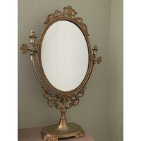 Настольное бронзовое зеркало .