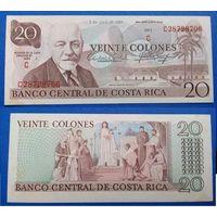 РАСПРОДАЖА!!! Коста Рика 20 колон - 1983 год - аUNC