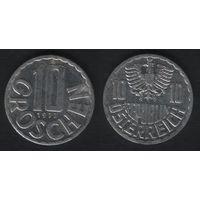Австрия km2878 10 грошен 1977 год (f30)(b01)n