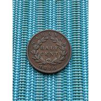 Саравак 1/2 цента 1870 г. Редкость