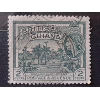 Гайяна, колония Англии 1954 королева Елизавета 2, ботанический сад