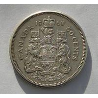 Канада 50 Центов 1960 Серебро