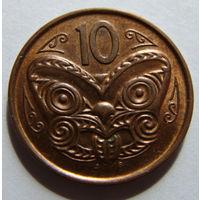 Новая Зеландия 10 центов 2011 г
