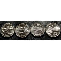 США 25 центов 2017 года. Все монеты.