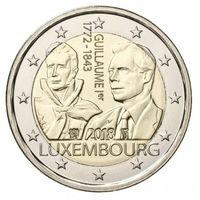 2 евро 2018 г. Люксембург 175 лет со дня смерти Гийома I.UNC из ролла