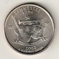 США квотер 2002 штат Теннесси