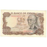 100 песет, 1970 год, Испания.