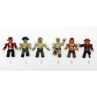 Фигурки пиратов и скелетов Mega Bloks. Руки и ноги сгибаются даже в локтях и коленях!