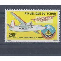[1034] Чад 1985. Авиация.Самолет.