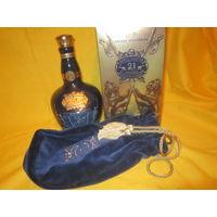 "Бутылка,чехол и коробка от Виски Chivas,""Royal Salute"" 21 years old."